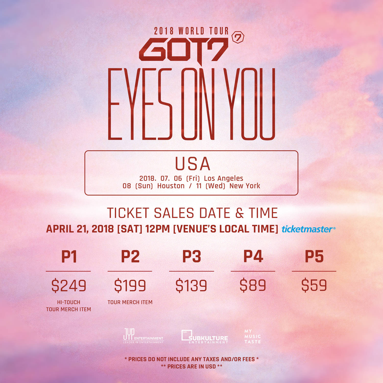 2018 Got7 World Tour List Of Cities Tour Dates How To Get Tickets