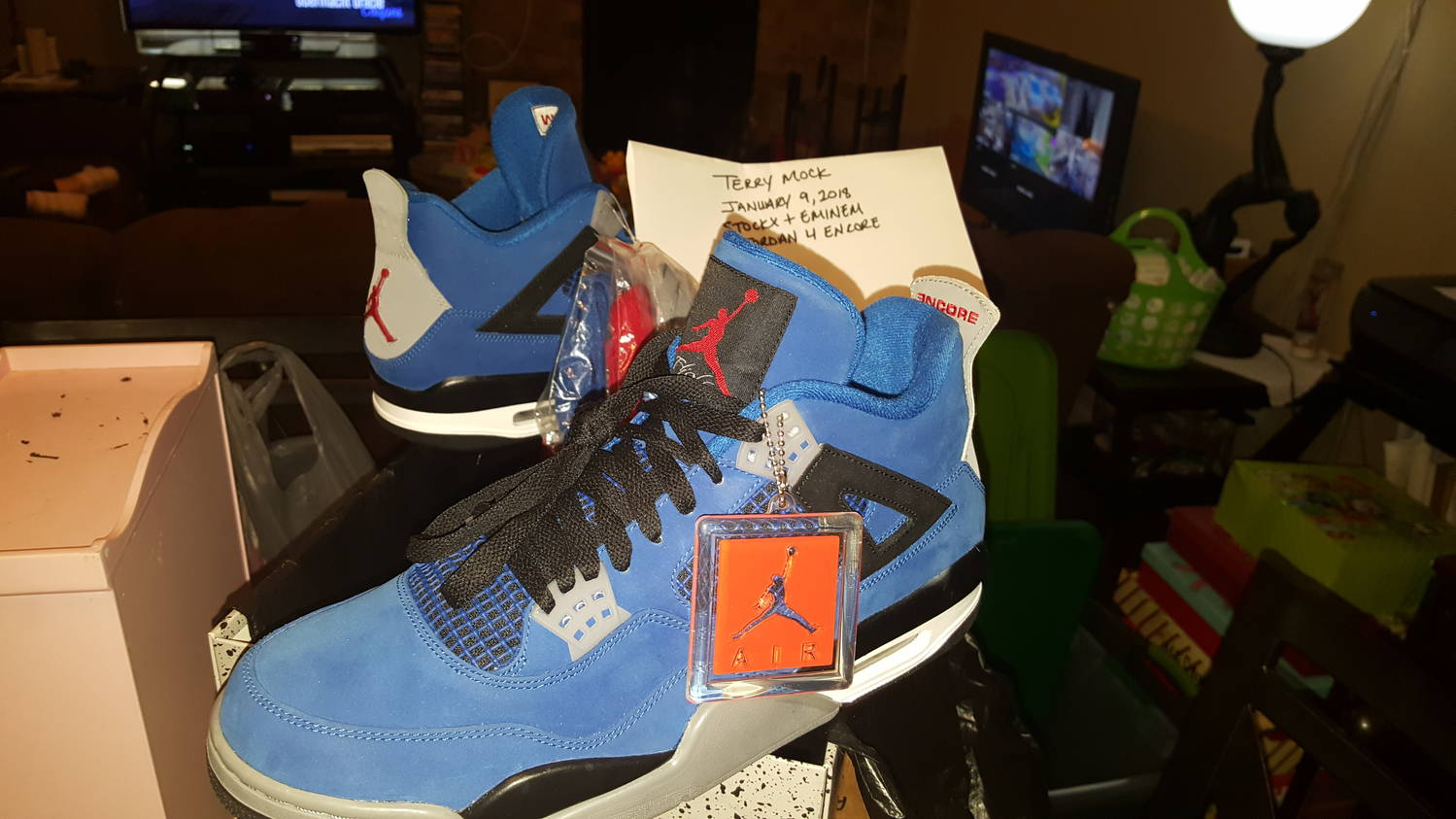 3240968a6ffbb3 Being that I am an avid collector of jordans and the 4s are my favorite  silhouette and Eminem is one of my favorite artists I am perfectly content  to just ...