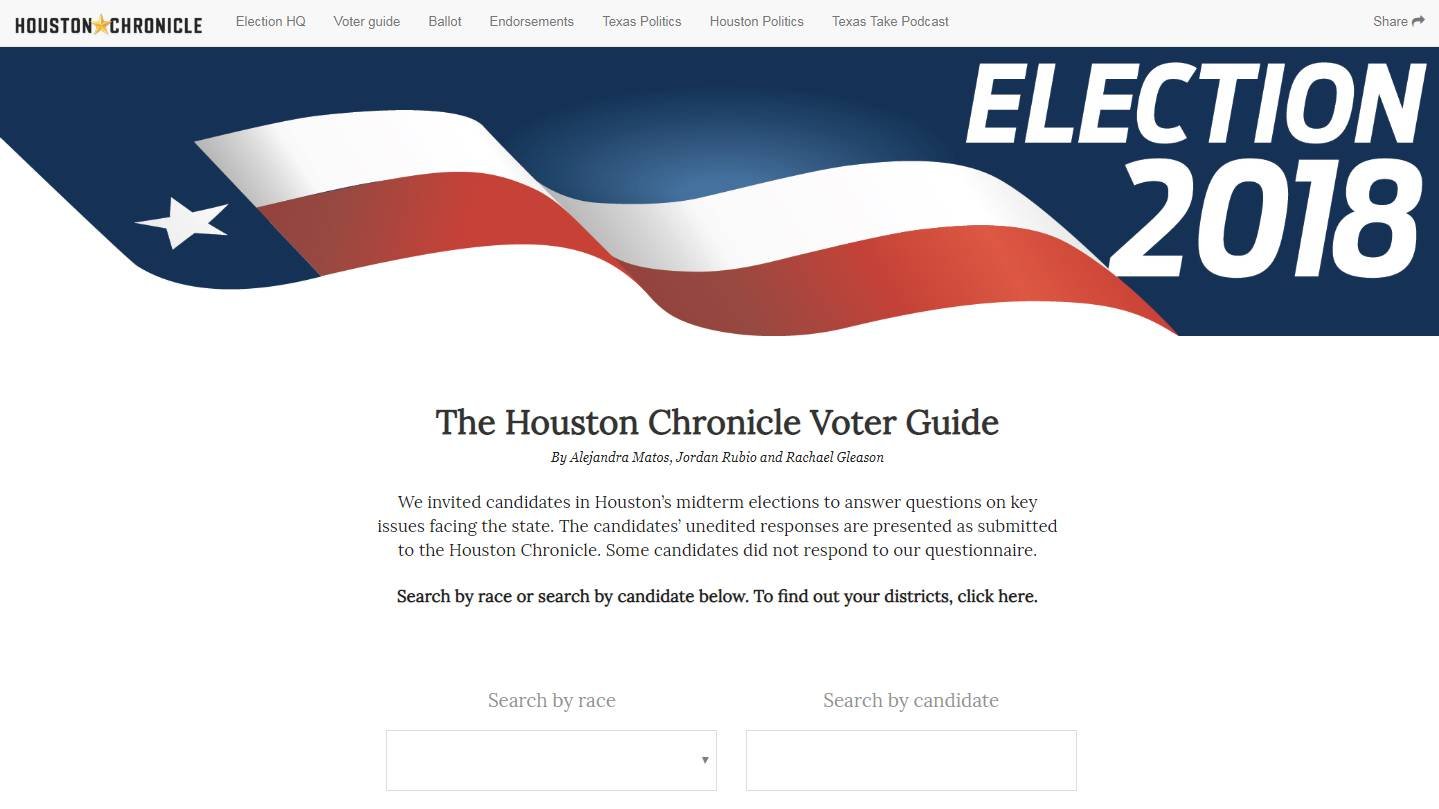 2018 General Election Voter Guide Houston Chronicle
