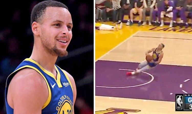 6a35a4cd2 Steph Curry missed HILARIOUS dunk attempt before embarrassing airball - NBA  Twitter reacts