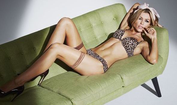 46770b3d3c Abbey Clancy looks stunning as she models the new Ultimo underwear  collection