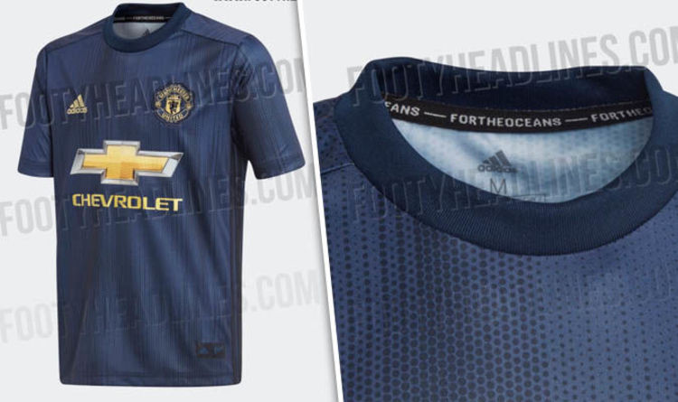 Man Utd Third Kit Leaked Blue 2018 19 Strip Made Of Recycled Plastic Football Sport Express Co Uk