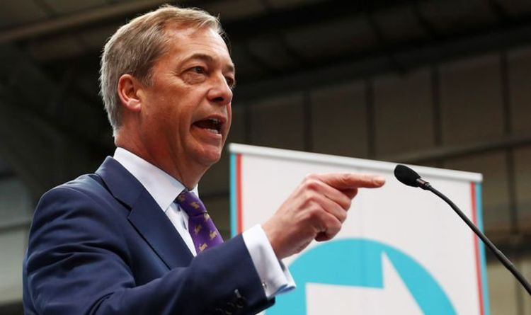 ecde8015c7af Nigel Farage's Brexit Party STORMS into NINE point lead but rules OUT bid  to become MP