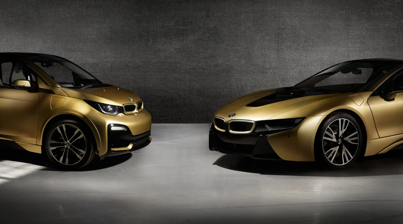 Bmw Builds 24k Gold I3 And I8 For Charity Auction
