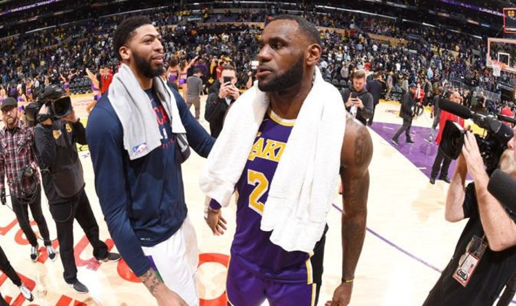 da928457c LeBron James and Anthony Davis did THIS after Lakers win and fans all think  one thing