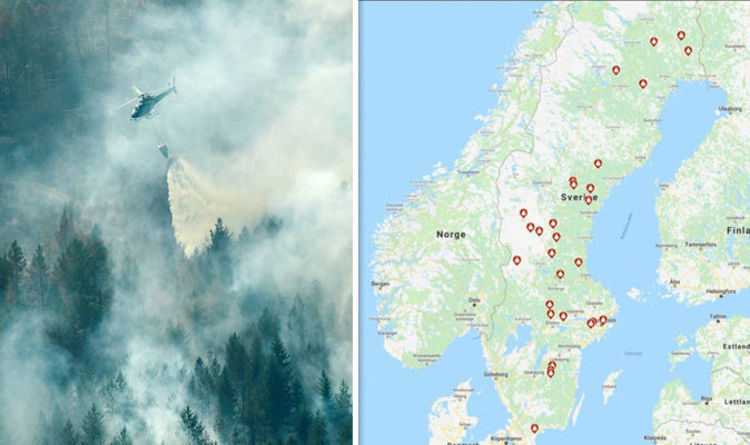 Middleton Fire Map.Sweden Fire Map Sweden Battles Raging Wildfires Worst Drought In