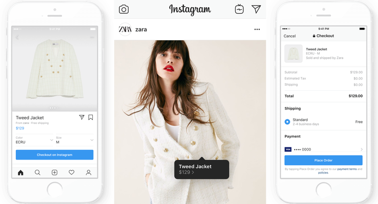 Instagram Launches Shopping Checkout Charging Sellers A Fee Techcrunch