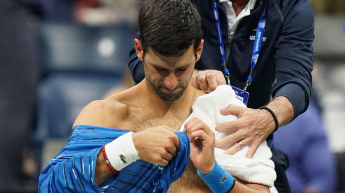 US Open: Novak Djokovic shoulder injury opens up Roger