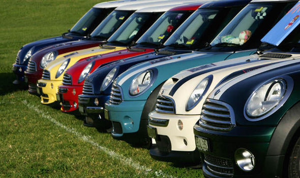 Row Of Mini Coopers