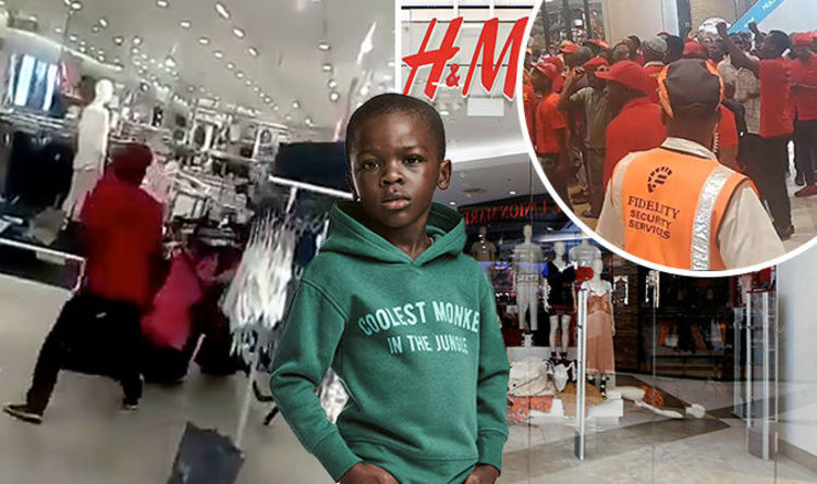 2a8645dee1639f Furious protestors TRASH H M stores as  coolest monkey in the jungle  race  row escalates