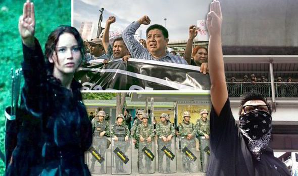 Student Protestors Arrested For Using Hunger Games Three Finger