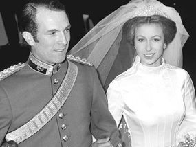 1f62f251f6 Mark Phillips and Princess Anne wed ion Westminster Abbey in 1973