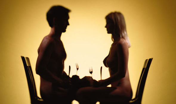Very valuable Girl naked at restraunt