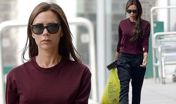 7baee1bef366 Still posh enough for VB! Victoria Beckham shops in M S a day after ...
