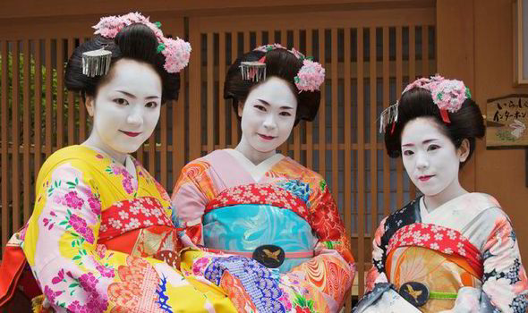 Geisha woman in japan