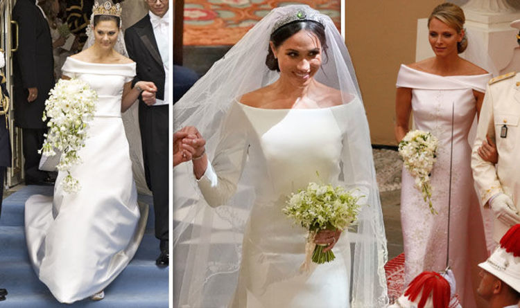 36d1aebf70a91 Meghan Markle wedding dress: Did Duchess of Sussex base gown on these royal  brides?