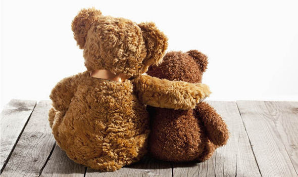 Image result for stuffed animal bears hugging
