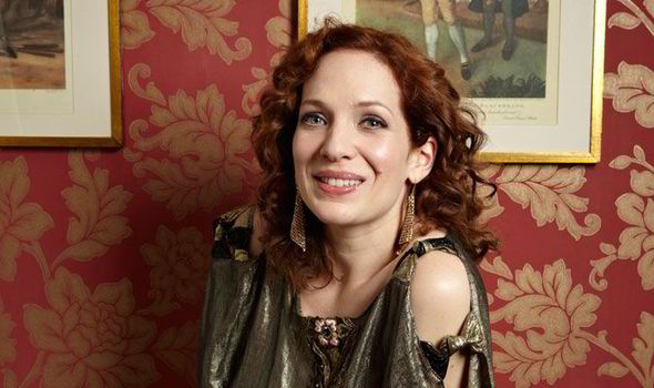 Katherine Parkinson Loves Wearing Clothes And Fashions From Bygone Eras  [TESSA HALLMANN]