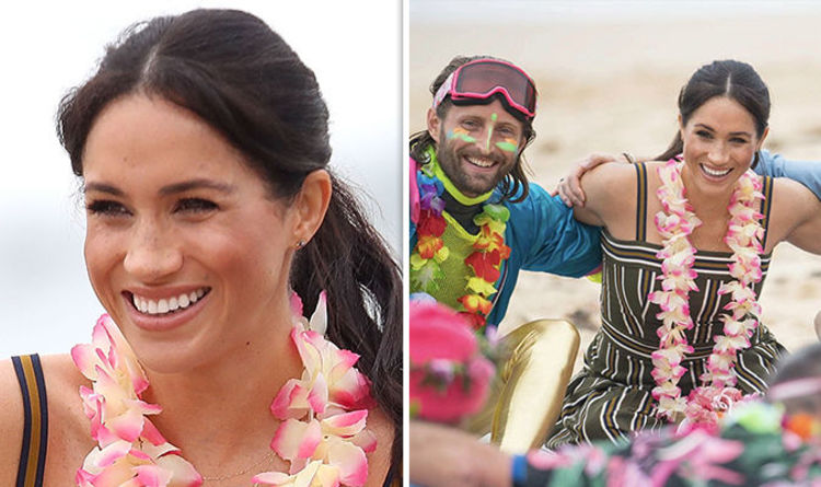 7c2ff05fed96 Royal REBEL  Meghan Markle BREAKS protocol on Bondi Beach during Australia  tour