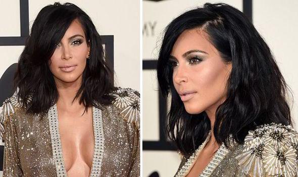 Get Kim Kardashian S Gorgeous Grammy S Long Wavy Bob Hairstyle