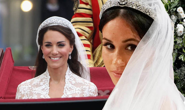 d9205f5b1e7 Meghan Markle wedding dress  How did Meghan s Royal Wedding compare to Kate  Middleton s