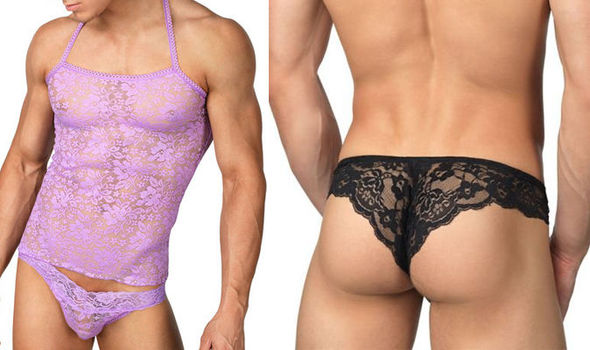 Lace lingerie for the LADS  Raunchy underwear for MEN to spice up  Valentines Day 6e0cda96d752