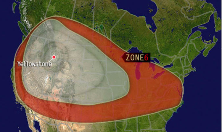 Yellowstone Us Map.Yellowstone Volcano Eruption Death Zone Millions Stranded In Ash