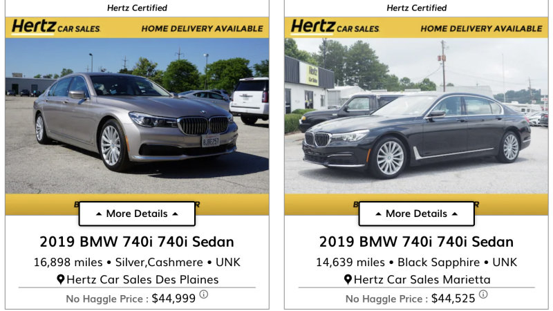 Top 10 Hertz Used Car Deals Autoblog