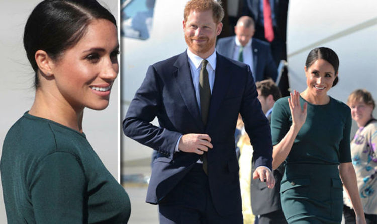 Image result for Prince Harry and wife, Meghan look stunning as they arrive Ireland for Two-Day Official Visit (Photos)
