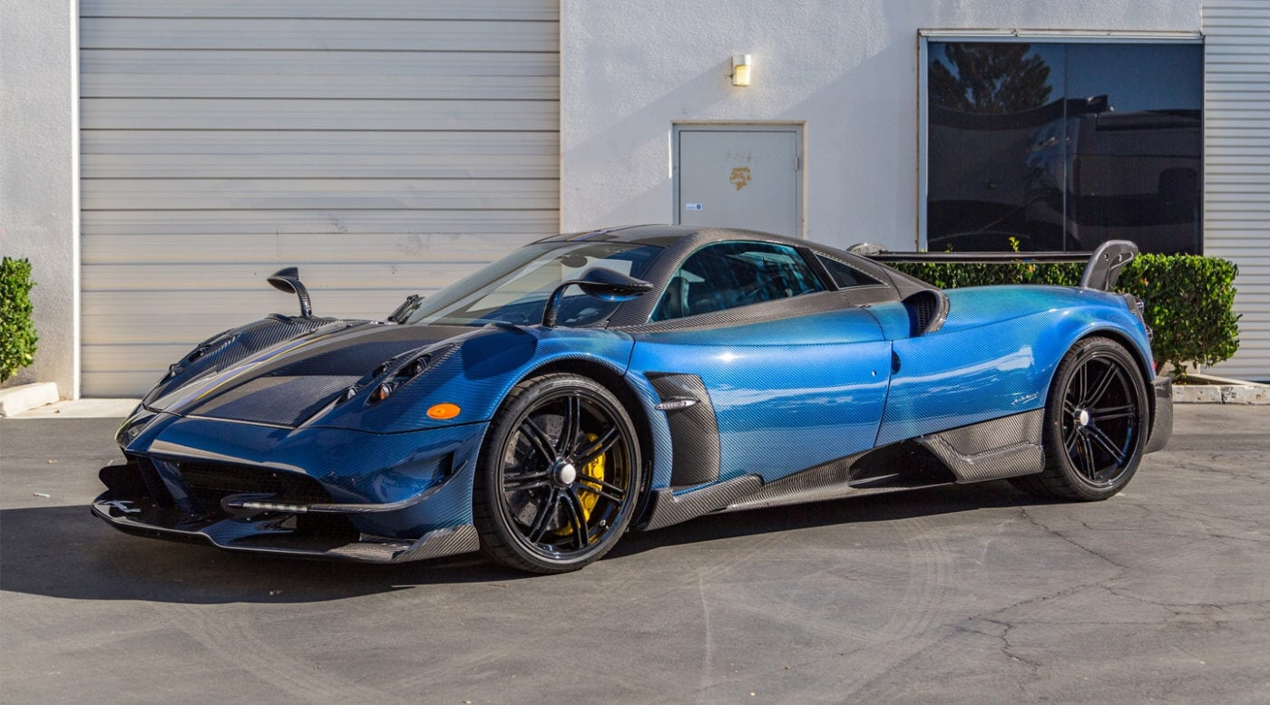 Pagani Huayra For Sale >> Blue Carbon Fiber Pagani Huayra Bc For Sale