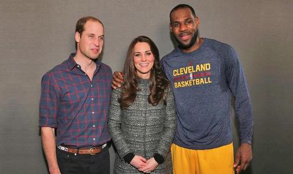 7b3951061 LeBron James breaks Royal protocol by putting a friendly arm around Kate