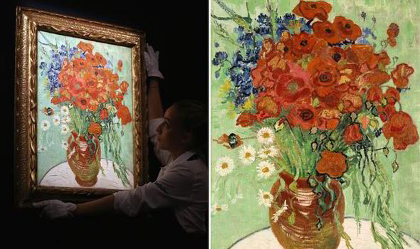 Rare van gogh artwork fetches 387million at sothebys auction vincent van goghs still life with daisies and poppies has sold for mightylinksfo