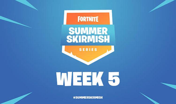 fortnite summer skirmish week 5 results standings twitch live stream start time rules - notvivid fortnite settings