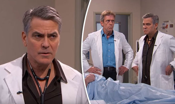 george clooney fronts hilarious er reunion with help from hugh