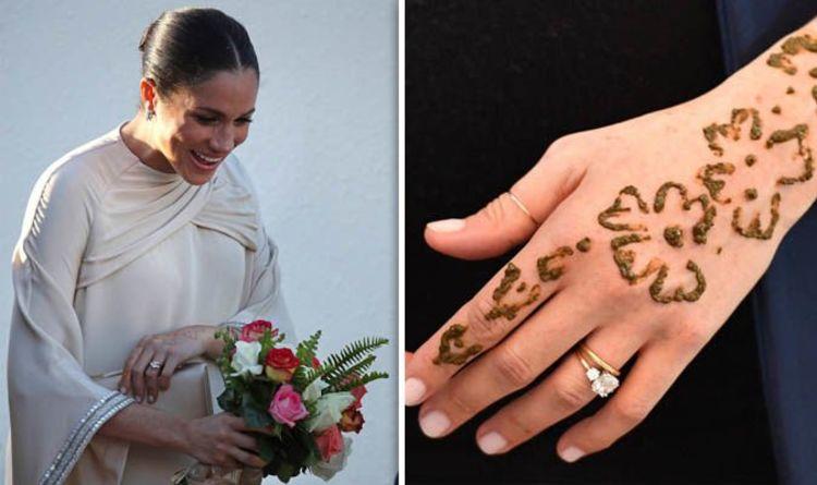 87549e866 Meghan Markle in Morocco: Has Meghan's henna tattoo FADED? How long do henna  tattoos last?