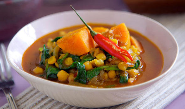 Chickpea Sweet Potato And Spinach Curry Expresscouk