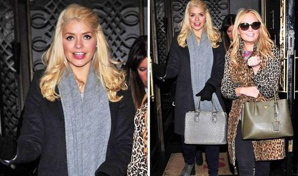 Holly Willoughby And Emma Bunton Looked Chic As They Emerged From Scotts Today