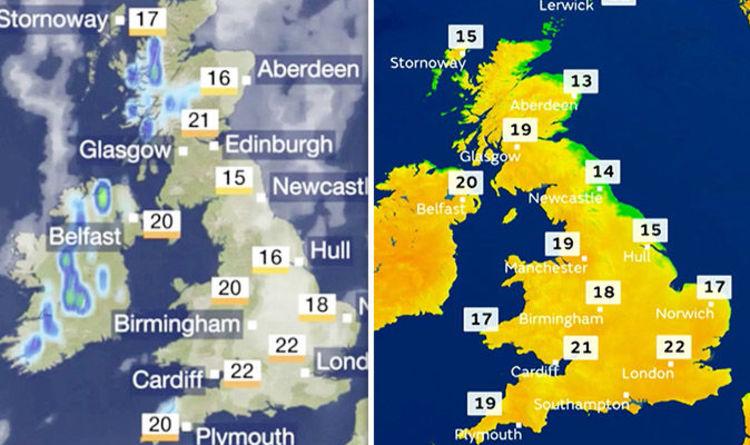 Uk Weather Forecast Map BBC Weather forecast: 'Sharp showers' to hit UK despite high