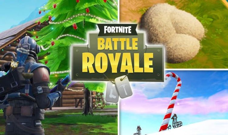 competitive price ceeae 356dc 14 Days of Fortnite  Christmas trees, goose nests, giant candy canes map  locations   Gaming   Entertainment   Express.co.uk