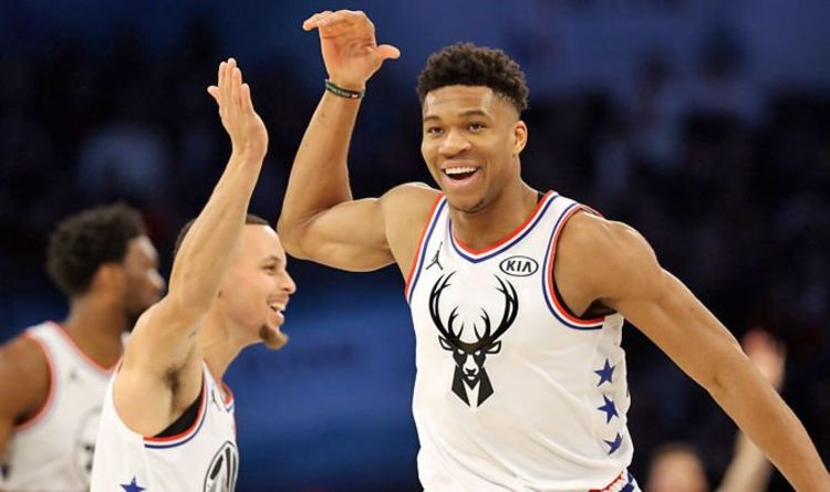 3ae237eadae6 Giannis Antetokounmpo to replace Kevin Durant at Warriors  NBA expert in  Steph Curry claim