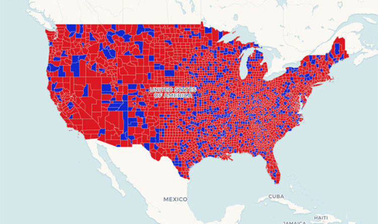 Midterm Elections Map Is Democrat And Republican Red Or Blue In Usa