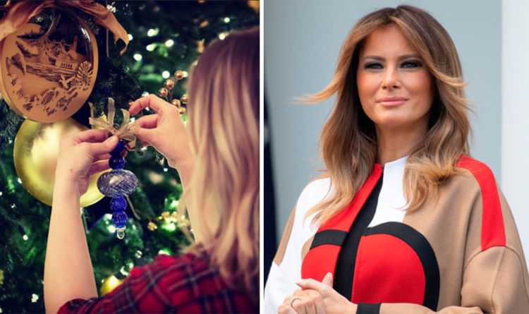 Melania Trump gives SNEEK PEAK at White House Christmas decorations and  they look STUNNING