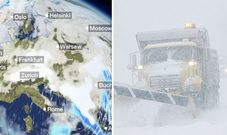 Snow Map Europe.Bbc Weather Europe Hit By Red Warnings For Snow With More To Come