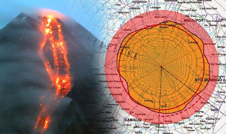 Mayon Volcano Danger Zone Map Threat Area Expands As Volcano Eruption Imminent