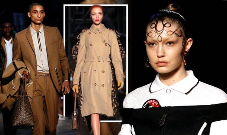 46437adfe9a0 London Fashion Week 2019  Inside Burberry LFW fashion show - Gigi Hadid  walks runway