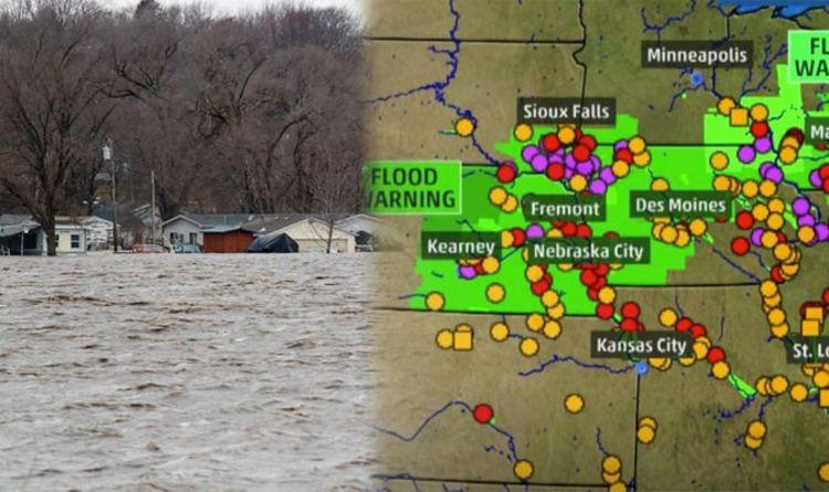 Nebraska flooding map: Where is Nebraska flooding - which