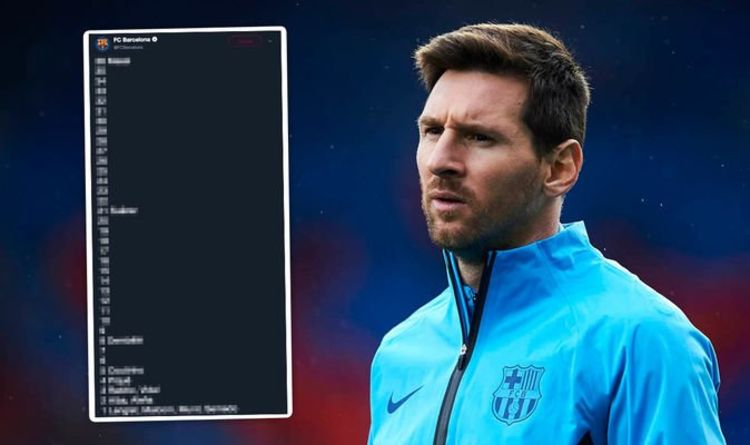 e1b459e4d27 Barcelona TROLL their OWN players in Lionel Messi tweet | Football | Sport  | Express.co.uk