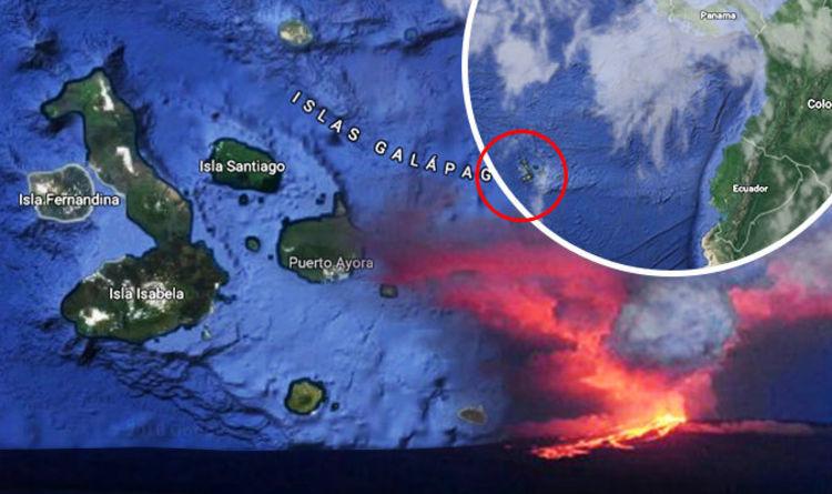 Galapagos Islands volcano eruption MAP: Is Fernandina Island in ring on