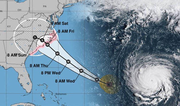 Hurricane Florence Noaa Latest Update Extremely Dangerous Florence Increasing In Size World News Express Co Uk