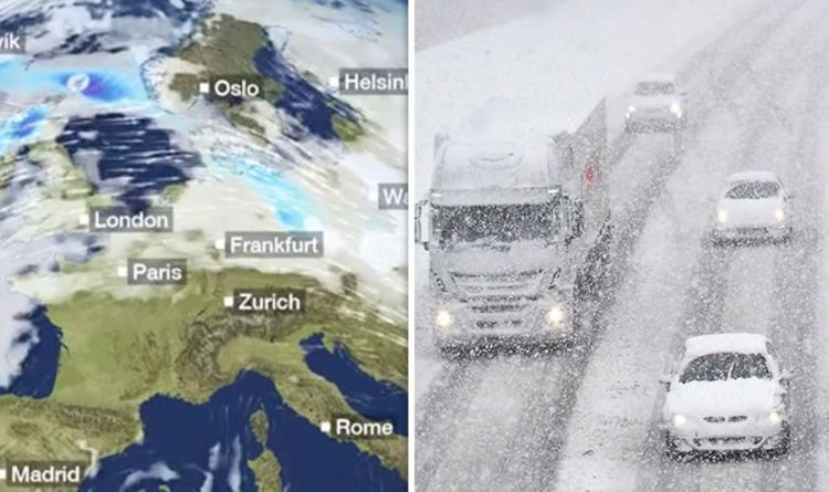 Snow Map Europe.Bbc Weather Europe Braces For More Heavy Snow And Flash Flooding